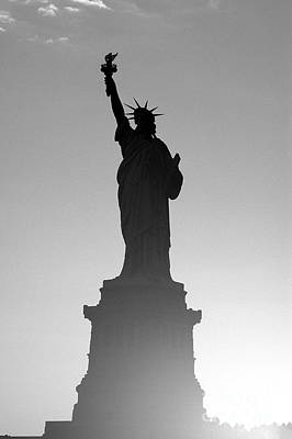 Monument Photograph - Statue Of Liberty by Tony Cordoza