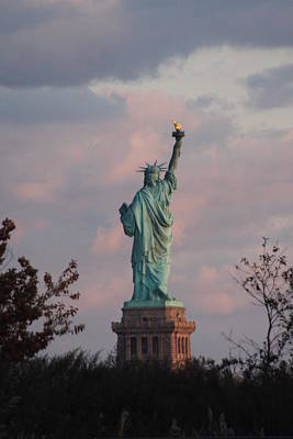 Photograph - Statue Of Liberty - View From New Jersey by Vadim Levin