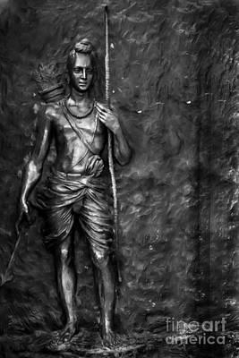 Statue Of Lord Sri Ram Art Print