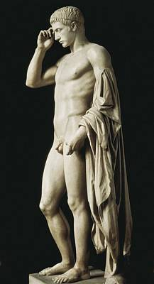 Statue Of Marcellus Statue De Art Print by Everett