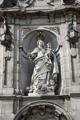 The Virgin Mary Photograph - Statue Of Mary In Madrid by Carol Groenen