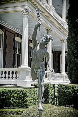 Photograph - Statue Of Mercury - Calhoun Mansion - Charleston S C - Travel Photographer David Perry Lawrence by David Perry Lawrence