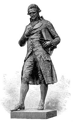Statue Of Nicolas De Condorcet Art Print by Science Photo Library