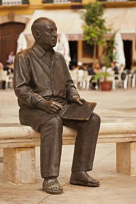 Statue Of Pablo Picasso, Plaza De La Art Print