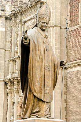 Christian Sacred Photograph - Statue Of Pope John Paul II by Jess Kraft