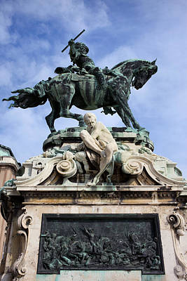 War Relief Photograph - Statue Of Prince Eugene Of Savoy In Budapest by Artur Bogacki
