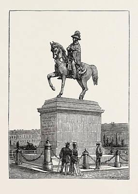 Statue Of Prince Schwarzenberg, Vienna, Austria Art Print by Austrian School