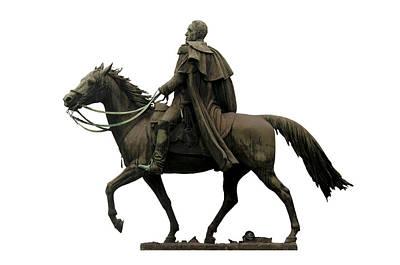 Military Bronze Photograph - Statue Of Simon Bolivar by Fabrizio Troiani