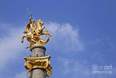 Tbilisi Photograph - Statue Of St George And The Dragon In Tbilisi by Robert Preston