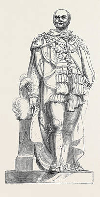 Statue Of The Duke Of Sussex Print by English School