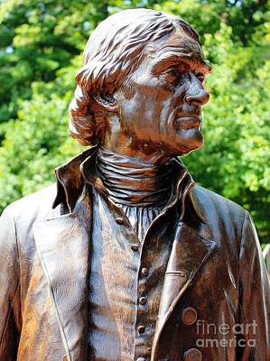Statue Of Thomas Jefferson Art Print by Judy Palkimas