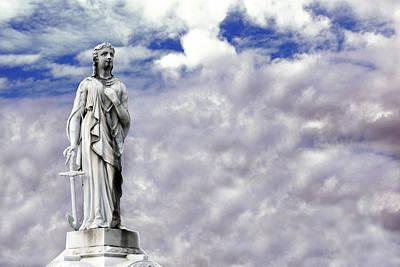 Statue Of Woman And Clouds Richmond Virginia Original by John Hanou