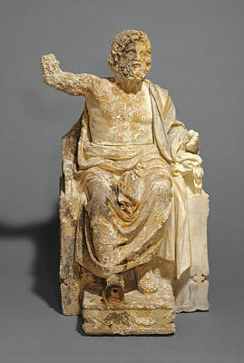 Zeus Drawing - Statue Of Zeus Enthroned Unknown About 100 B by Litz Collection