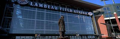 Lambeau Field Photograph - Statue Outside A Stadium, Lambeau by Panoramic Images