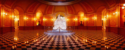 Shiny Floors Photograph - Statue Surrounded By A Railing by Panoramic Images