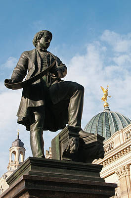 Dresden Wall Art - Photograph - Statue With Glass Dome by Michael Defreitas