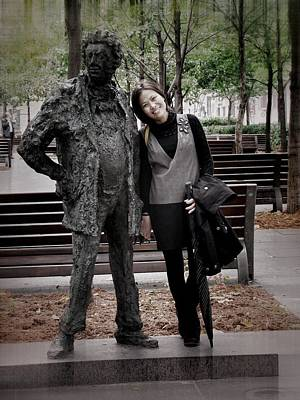 Photograph - Statue With Woman by Robert Knight