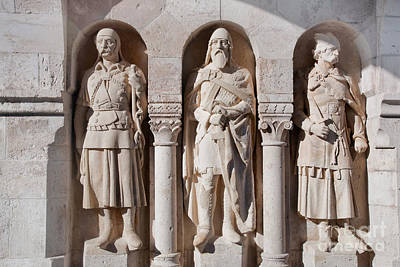 Photograph - Statues In The Wall Of Fisherman's Bastion by Michal Bednarek