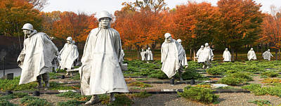 Korean War Memorial Photograph - Statues Of Army Soldiers In A Park by Panoramic Images