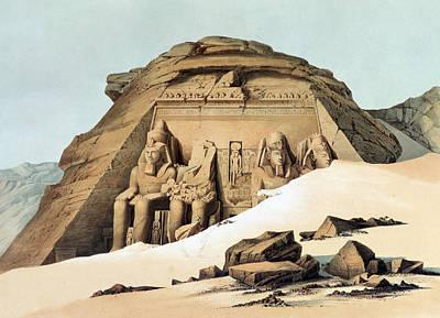 Karl Painting - Statues Of Rameses by Karl Richard Lepsius