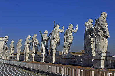 Photograph - Statues On Facade Of St Peters by Tony Murtagh