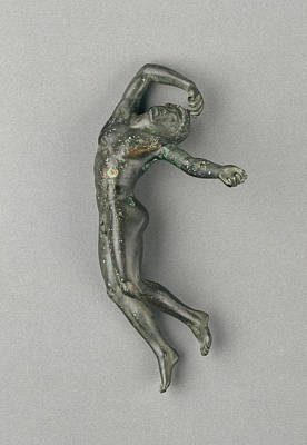Copper Drawing - Statuette Of A Dead Youth Unknown Greece by Litz Collection