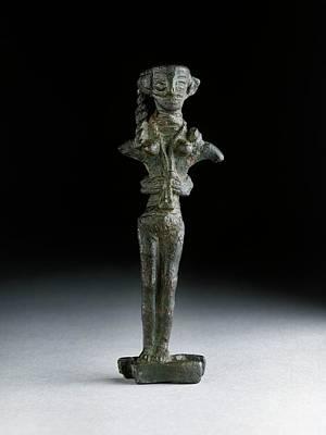 Statuette Of Astarte Art Print by Ashmolean Museum/oxford University Images