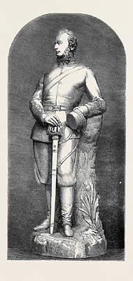 Lord Drawing - Statuette Of Lord Elcho by English School