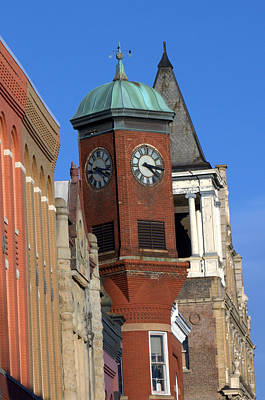 Photograph - Staunton Clocktower by Cathy Shiflett