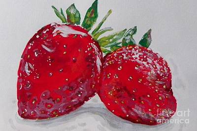 Painting - Stawberries by Marisela Mungia