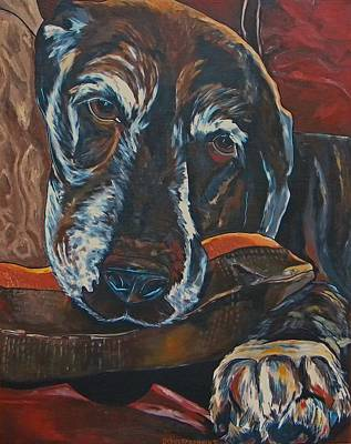 Soulful Eyes Painting - Stax by Patti Schermerhorn