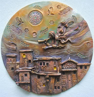 Clay Relief Ceramic Art - Stay Awake For You Know Not The Hour by Gary Wilson