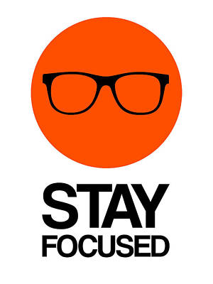 Stay Focused Circle Poster 5 Art Print by Naxart Studio