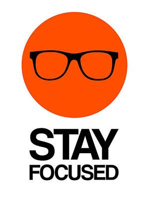 Box Digital Art - Stay Focused Circle Poster 5 by Naxart Studio