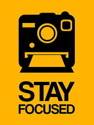 Cameras Wall Art - Digital Art - Stay Focused Polaroid Camera Poster 2 by Naxart Studio