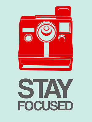 Cameras Wall Art - Digital Art - Stay Focused Polaroid Camera Poster 4 by Naxart Studio