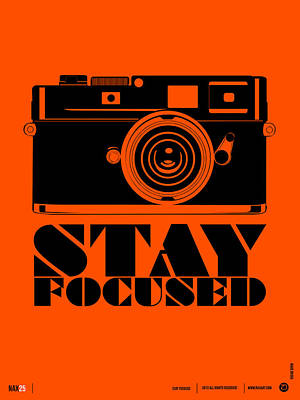 Comical Digital Art - Stay Focused Poster by Naxart Studio