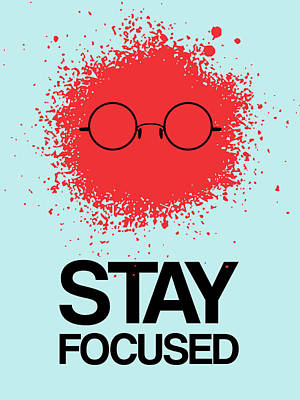 Camera Digital Art - Stay Focused Splatter Poster 1 by Naxart Studio