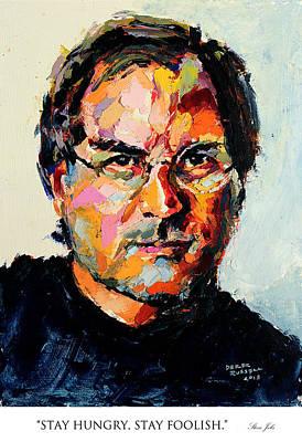 Derek Russell Wall Art - Painting - Stay Hungry Stay Foolish Steve Jobs by Derek Russell