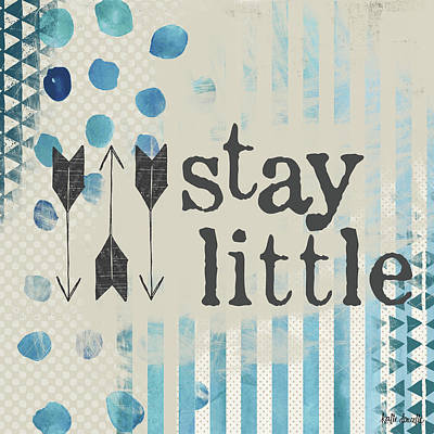 Nursery Painting - Stay Little by Katie Doucette