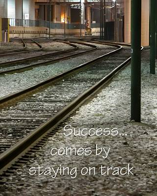 Photograph - Stay On Track 21163 by Jerry Sodorff