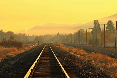 Art Print featuring the photograph Stay On Track by Lynn Hopwood