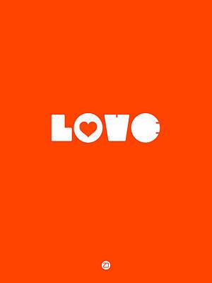 Valentines Day Digital Art - Stay On Track Orange Poster by Naxart Studio