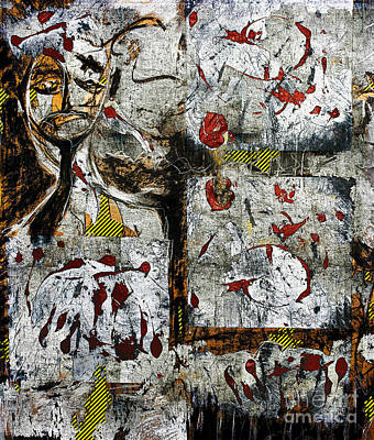 Mixed Media - Stay Out - Crime Scene by Nicole Philippi