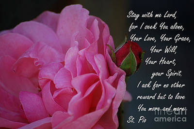 Padre Pio Photograph - Stay With Me by Sharon Elliott
