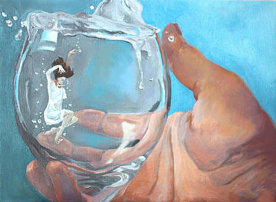 Art Print featuring the painting Staying Afloat by Rachel Hames
