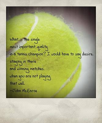 Staying In There And Winning Matches - John Mcenroe Polaroid Art Print