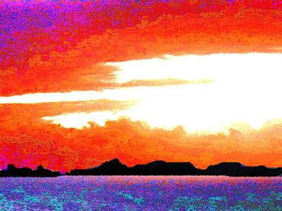 Digital Art - St.barths From The Deck by Expressionistart studio Priscilla Batzell