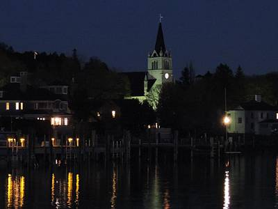 Photograph - Ste. Anne's In The Moonlight by Keith Stokes