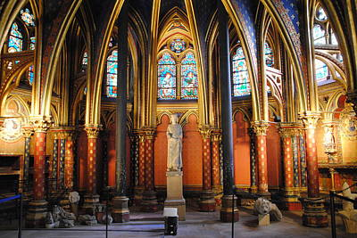 Ste.-chapelle Lower Chapel Art Print